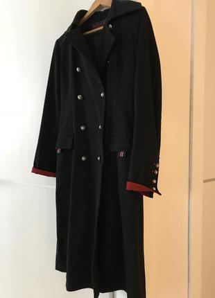 Французское пальто-шинель из шерсти