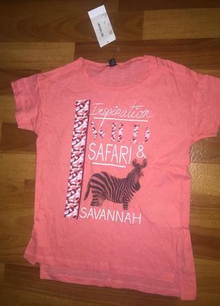 Отлична футболка для девочки фирмы kiabi