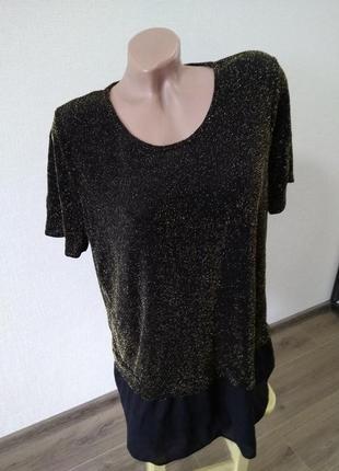 Футболка блуза блузка размер 20 tu нарядная красивая