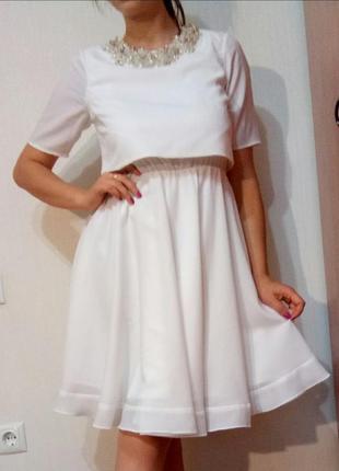 Белое платье миди asos