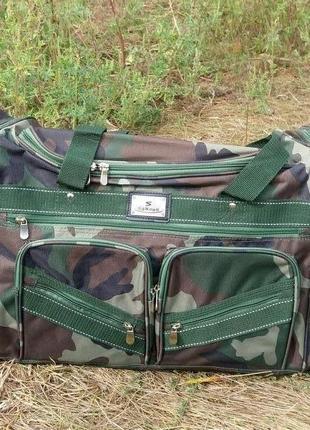 Сумка дорожная камуфляжная, сумка вместительная дорожная хаки, сумка 50 л