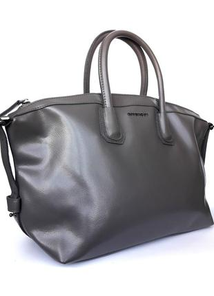 """Женская кожаная сумка """"antigona"""" серая3 фото"""