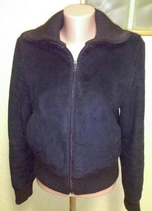 Актуальная курточка на меху из замши