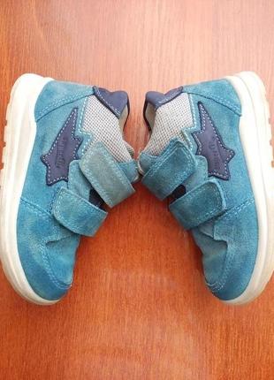 Ботинки superfit 24-25 р 15,5 см. кожа замш нубук
