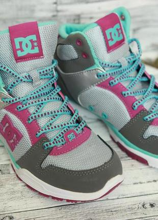 Кроссовки dc shoes, хайтопы, сникерсы, кросівки, кеди 37р