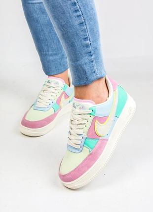 36 37 38 39 40 нежные женские кроссовки от nike air force low 1 pink blue white