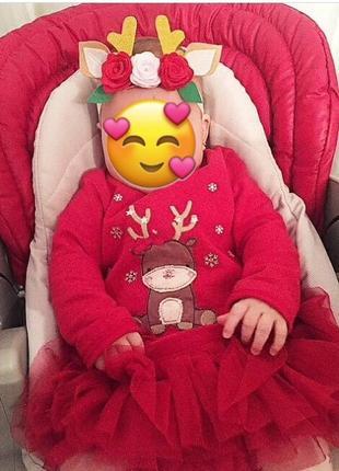 Повязка на голову. оленёнок.новый год. детская повязка. подарок. утренник