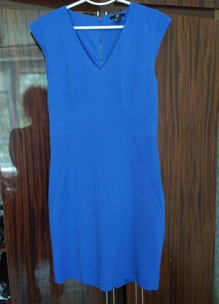 Синее платье h&m