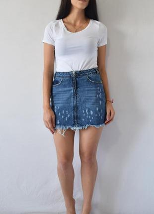 Джинсовая юбка missguided