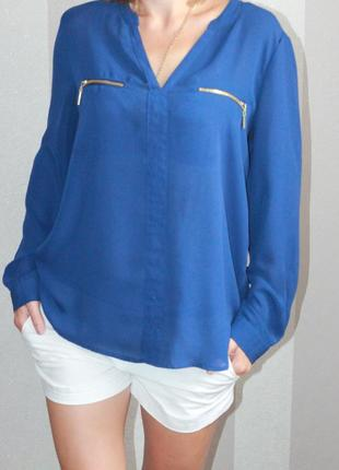 Очень классная синяя блузка