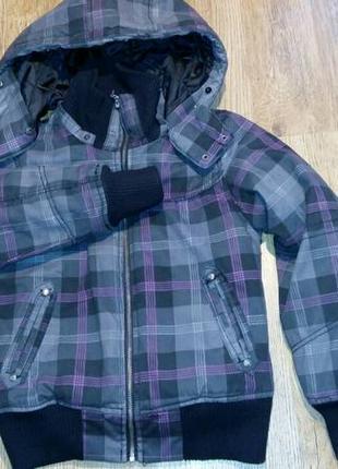 Утепленная клетчатая куртка