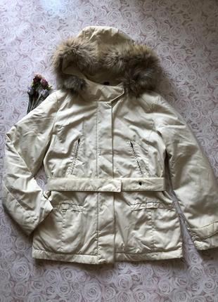 Пуховая куртка оригинал натуральный мех