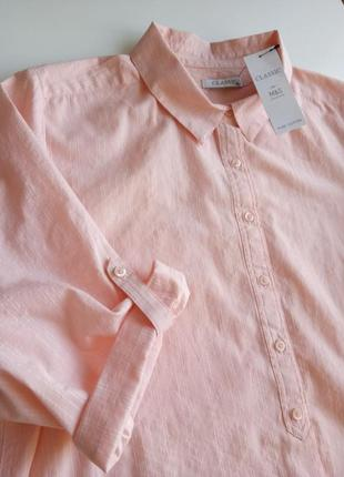 100% котон классическая блуза /рубашка с рукавом 3/4 из натуральной ткани