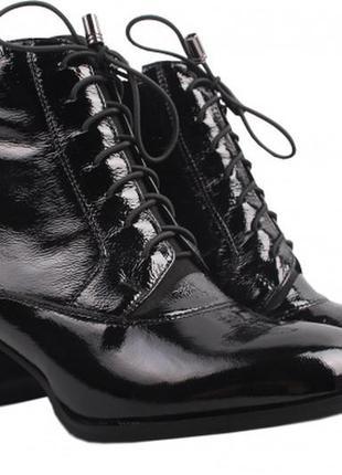 Ботинки демисезонные lady marcia натуральная кожа лак р. 37/38
