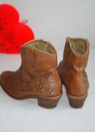Ботинки полусапожки кожаные бренд lavorazione artigianale
