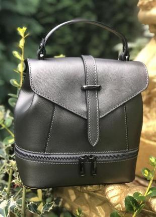 Рюкзак - сумка из натуральной кожи (италия)