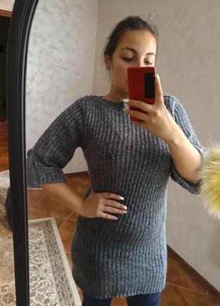 Платье теплое зимнее