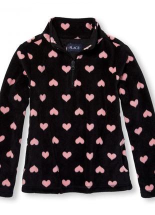 Флисовая кофта childrensplace сердечки