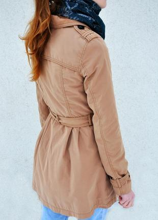 Классическое бежевое пальто h&m