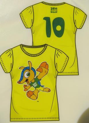 Футболка для девочки на 10 - 12 лет рост 146 - 152 см fifa  германия