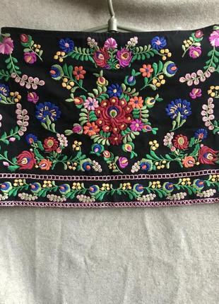 Роскошная юбка zara с вышивкой