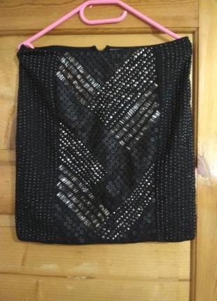 Нарядная юбка прямого кроя от gina tricot, p. m