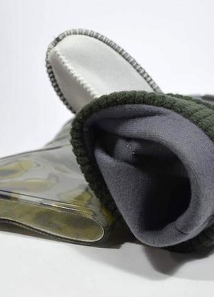 🍀 резиновые сапоги demar хаки stormer lux print 🍀7 фото