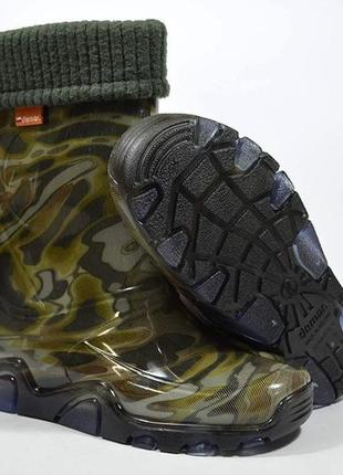 🍀 резиновые сапоги demar хаки stormer lux print 🍀6 фото