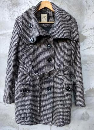 Шерстяное пальто pull&bear