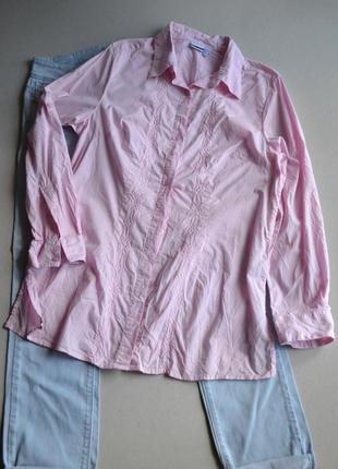 Рубашка блузка туника с вышивкой р.xl-xxl 100% хлопок basic line