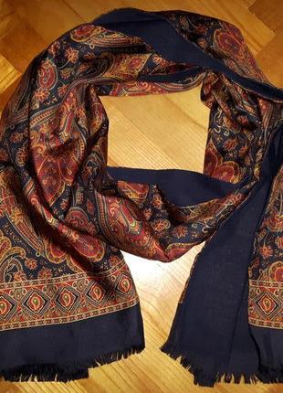 Peter hahn, шерсть+шелк, красивейший длинный шарф!