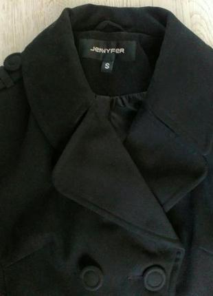 Черное пальто jennyfer s jennyfer