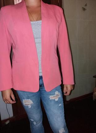 Пиджак, жакет розовый m&s