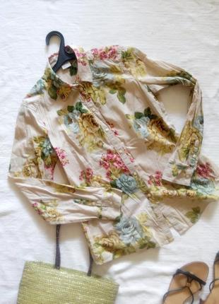 Хлопковая рубашка в цветах