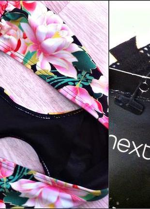 Раздельный купальник бикини с двойным пуш ап и сочным цветочным принтом,чашка 85 с5 фото