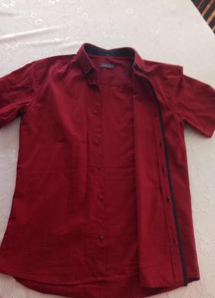 Супер рубашка кольору марсал
