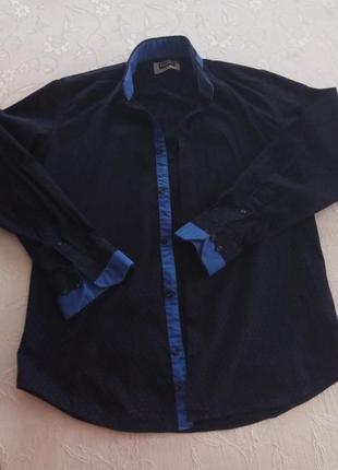 Продам стильну рубашку темно синього кольору.