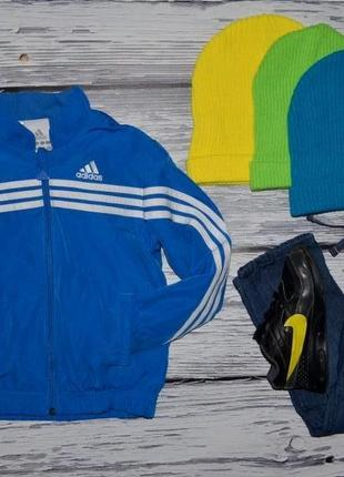 4 года 104 см фирменная куртка ветровка олимпийка ярка эффектная адидас adidas