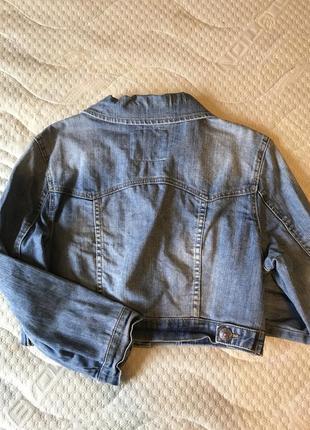 Джинсова коротка куртка-піджак3 фото