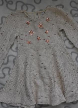 Теплое нарядное платье george 2-3 года