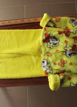 Детский домашний махровый костюм пижама (унисекс)3