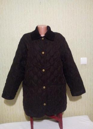 Тёплая стеганная курточка на подстежке пог 59