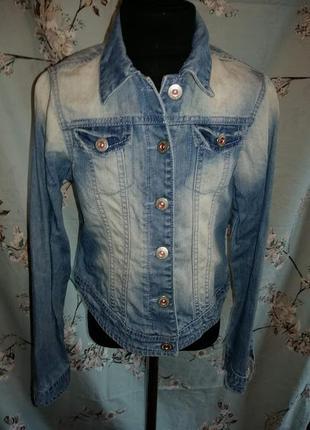 Классный пиджак джинсовый next