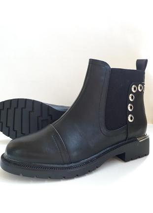 Акція! жіночі демісезонні напівчобітки (полусапожки, ботинки) розмір 38, 41.