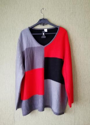 🌹джемпер колор-блок🌹 вязаный свитер