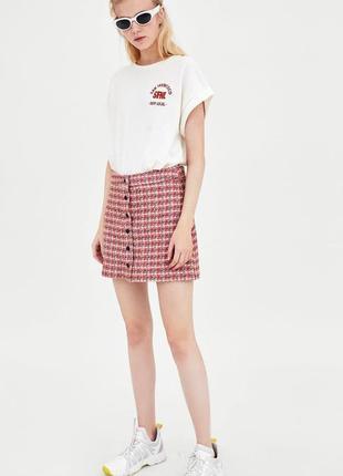 Твидовая юбка zara