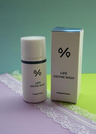 Энзимная пудра для мягкой эксфолиации кожи лица leegeehaam life enzyme wash 15 грамм
