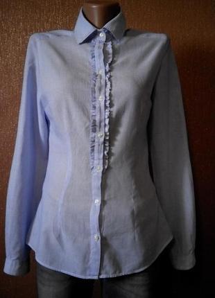 Блузка рубашка по фигуре в мелкую полоску не принт zara woman