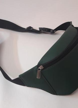 Зелёная бананка сумка на пояс, плече
