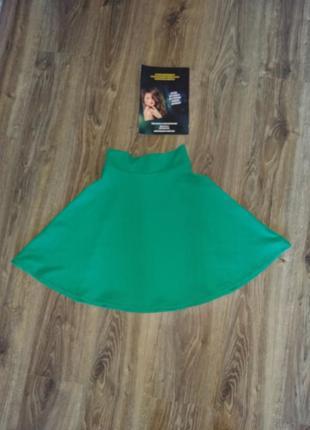 Фактурная юбка полусолнце от h&m